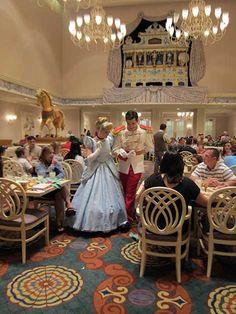 Cinderella and Prince Charming at 1900 Park Fare at the Grand Floridian Resort at Disney World tami@goseemickey.com