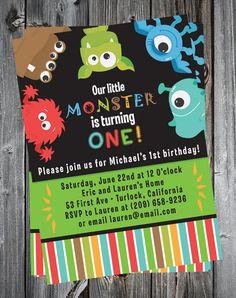 Cute Monster Birthday Invitation Printable @Brittnea Fugate Fugate Fugate Fugate Shaw