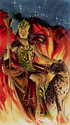 Queen of Wands - Tarot of the Golden Dawn