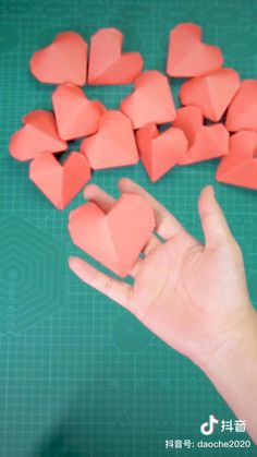 Simple three-dimensional heart-shaped origami tutorial Made with love by Douyin Diy Crafts Hacks, Diy Crafts For Gifts, Diy Home Crafts, Cool Paper Crafts, Paper Crafts Origami, Fun Crafts, Origami Gifts, Creative Crafts, Instruções Origami