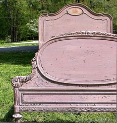 $3 junk find vintage bed painted with mms milk paint petticoat junktion
