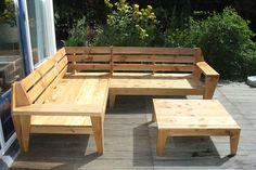 Do it yourself: Outdoor Lounge, garden sofa   In aanbouw: zelfgebouwde tuinbank 'Leon' door Robert.