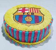 Torta Barcelona #tortascremorcake #tortasbogota #tortabarcelona #tortasdefutbol #tortasencrema #tortasdediseño