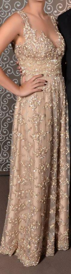 Vestido de Festa Longo Dourado - 13604794 | enjoei :p