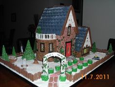 Ginger bread house by baker Cindy Mackey