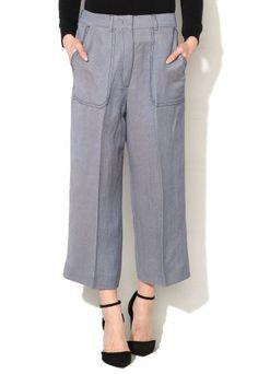 Pantaloni largi cu talie inalta si buzunare aplicate Fashion, Templates, Moda, Fashion Styles, Fashion Illustrations