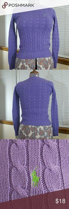 Ralph Lauren cable knit sweater 100% cotton exclusive of decoration EUC Ralph Lauren Sweaters Crew & Scoop Necks