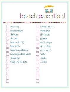 Vacation packing list for kids vacation packing lists vacation beach trip packing list days and counting pronofoot35fo Image collections