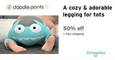 """Help me drop the price of the Doodle Pants Monster Legging to $13.00 (50% off). The price continues dropping as more moms click """"Drop the price"""". Moms drop prices of kids & baby products by sharing them with each other."""
