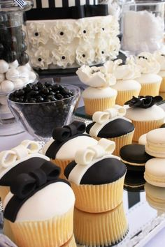 Little Big Company | The Blog: Black and White Chic Dessert Table by Life is Sweet Candy Buffets