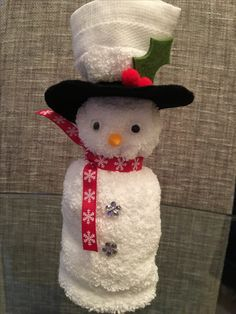 Face cloth snowman - Face cloth snowman Source by dagmarwitzky - Snowman Crafts, Christmas Projects, Holiday Crafts, Fun Crafts, Crafts For Kids, Christmas Snowman, Christmas Crafts, Christmas Decorations, Christmas Ornaments
