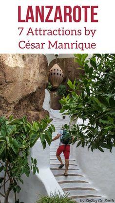 Lanzarote Canary islands Travel - Discover the main work of Cesar Manrique with these famous Lanzarote attractions : Jameos del Agua, Cactus Garden, Mirador del Rio, Timanfaya...    #canaryislands #lanzarote   Things to do in Lanzarote   Lanzarote photography