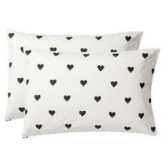 The Emily + Meritt Heart Sheet Set, Set of 2 Pillowcases