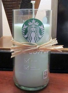 Starbucks Iced Coffee Candles - Recycled Starbucks Bottles Now Candles on Etsy, $11.00