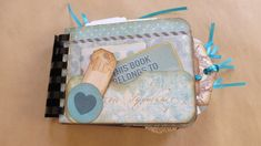 Aqua Turquoise Toned Tag Journal/Vintage Ladies/Junk Journal/ Notebook/Gratitude/TN /Handmade Ephemera/Scrapbook/Gift for Anyone by Maroonmanx on Etsy