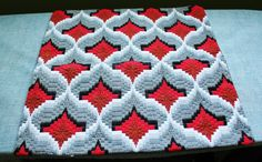 Vintage Handmade 16 inch Square Needlepoint Cushion Cover