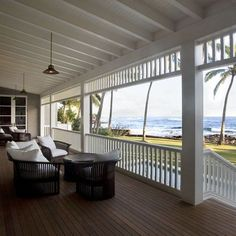 Dream Porch Design, Pictures, Remodel, Decor and Ideas House Design, British Colonial Style, Colonial Style, Beautiful Homes, Beach Design, Hawaiian Homes, Beach Cottages, Porch Design, House Exterior