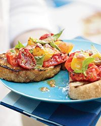 Grilled Tomato Crostini - Tomatoes from Food & Wine