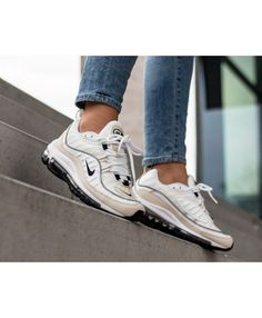 competitive price 0090b 96748 Nike Air Max 98 Trainers In White Black Fossile Nike Air Max Sale, New Nike