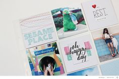 See how Juli's grid-based spread came together using Roman Holiday.