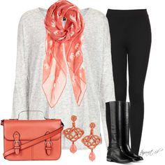 An Autumn Coral, created by tayswift-1d on Polyvore