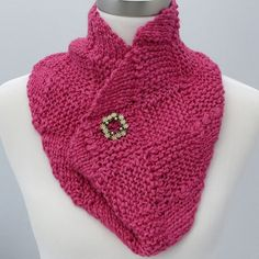 Rosy Pink Cowl in Wool, Alpaca and Silk