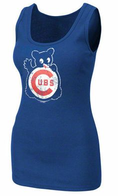Chicago Cubs Royal 1968 Ribbed Tank Top by 5th & Ocean   Sports World Chicago $24.95