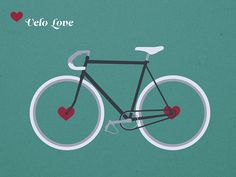 Velo Love bicycle art by Krautput via etsy