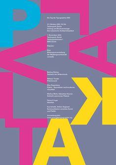 Niklaus Troxler, 2003 - Plakativ, Type conference