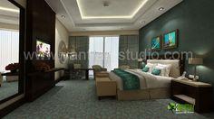 #3D Photo Realistic Interior Hotel Bedroom Design