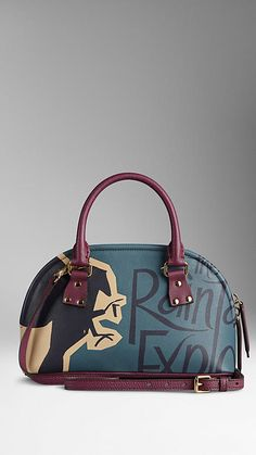 f8b344ca369 The Small Bloomsbury in Book Cover Print Leather from Burberry - A  structured leather tote featuring