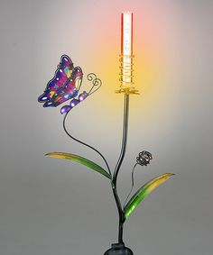 This Purple Butterfly Color-Changing LED Garden Stake is perfect! #zulilyfinds