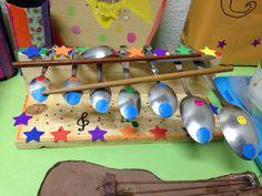 Instrumentos musicales con materiales reutilizados