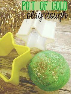 Pot of Gold Play Dough recipe. Patrick's Day craft for kids. Add gold glitter to this green play dough the kids will love. St Patricks Day Crafts For Kids, St Patrick's Day Crafts, Easy Crafts, Saint Patrick, Sweetest Day, Pot Of Gold, Leprechaun, Play Dough, Dough Recipe