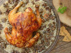 Fırında İç Pilavlı Bütün Tavuk Resimli Tarifi - Yemek Tarifleri