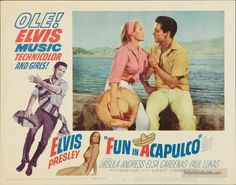 Fun in Acapulco - Lobby card with Elvis Presley & Ursula Andress