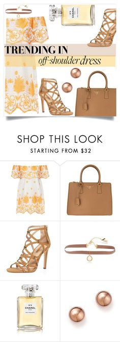 """Untitled #1293"" by kaymeans ❤ liked on Polyvore featuring Miguelina, Prada, Dorothy Perkins, Lonna & Lilly, Chanel and Bloomingdale's"