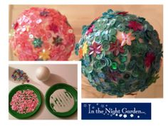 Flower ball table decorations. View blog for instructions.  #inthenightgarden #kidsparty #easybreezyparties A Little Party, Night Garden, Flower Ball, Make Your Own, How To Make, Garden Theme, Childrens Party, Diy Ideas, Party Ideas