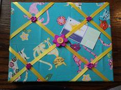 Ribbon Bulletin Board by cheerfuldianna80 on Etsy, $15.00
