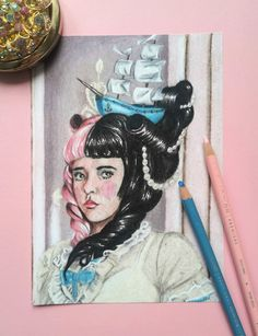 A la belle poule art print Rococo, Baroque, Melanie Martinez Drawings, Vintage Fans, Amazing Paintings, Halloween Jack, New Sticker, Art For Sale, Paper Art
