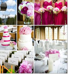 Pink hues and peony reception details