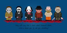 Horror Movie Serial Killers and Maniacs - Digital PDF Cross Stitch Pattern