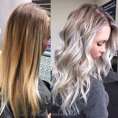 Hair Color Trends In 2019 Before & After: Highlights On Hair + Tips;Trendy Hairstyles And Colors Women Hair Colors; Hair Color Trends In 2019 Before & After: Highlights On Hair + Tips;Trendy Hairstyles And Colors Women Hair Colors; Balayage Hair Blonde, Ombre Hair, Gray Hair, Blonde Hightlights, Blonde Ombre, Platinum Hair Color, Platinum Blonde Highlights, Color Highlights, Blonde Highlights With Lowlights Ash