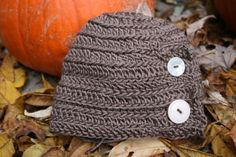 Organic Buttonflap Crochet Kids Hat