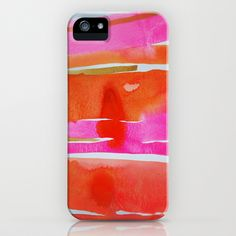 Clementine Stripes iPhone & iPod Case