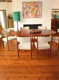 Vintage Parker Extension Table With 6 Chairs By Tribecasvintage On Etsy