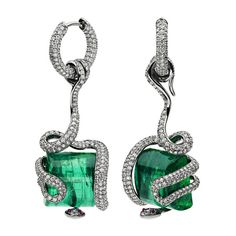 Green jewels for a green cause ❤ liked on Polyvore featuring jewelry, earrings, accessories, brincos, green, green jewelry, emerald green earrings, emerald jewelry, emerald earrings and earrings jewelry