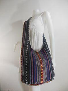 Handbag Hippie Hobo Cross body Messenger Boho Bag Hmong Purse Nepali Cotton E-HM15 on Etsy, £8.14
