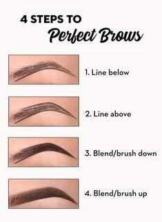 Eyebrow Makeup Tips, Contour Makeup, Skin Makeup, Eyeshadow Makeup, Permanent Makeup Eyebrows, Eye Brows, How To Do Eyeshadow, Eyeshadow Steps, Eyeshadow Guide