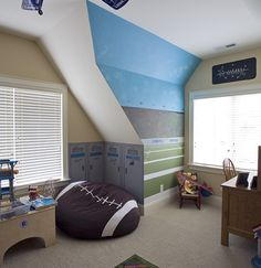Kids Boys' Rooms Football Design, Pictures, Remodel, Decor and Ideas